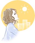 日々の日焼けなどのイメージ