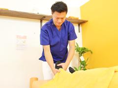 捻挫の施術