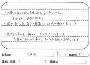 神戸市 65歳 男性 腰の痛み